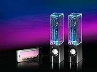 auvisio Wasserspiel-<br />Lautsprecher mit bunten Lichteff...