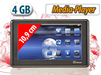 auvisio Portabler<br />10,9cm/4,3&quot; Touchscreen-Mediaplaye...