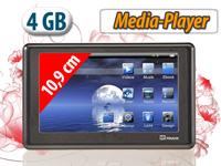 auvisio Portabler<br />10,9cm/4,3&quot; Touchscreen-Mediaplaye...