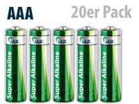 tka Super-Alkaline-<br />Batterien Micro 1,5V Typ AAA, 20 ...