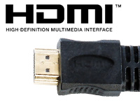 auvisio HDMI-1.4-Flachkabel High-Speed, vergoldet, 2 m, 3,7 mm flach auvisio HDMI-Flach-Kabel