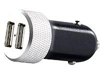 revolt Mini-USB-<br />Netzteil f&uuml;r Kfz 12 V, 4,2 A, 2x USB