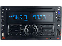 Creasono 2-DIN-MP3-<br />Autoradio &quot;CAS-3320DD&quot; USB / SD /...