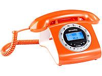 simvalley<br />Schnurgebundenes Retro-Festnetztelefon, or...
