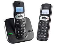 simvalley DECT-<br />Telefonanlage FNT-1050.easy mit 2 sch...
