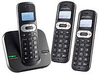 simvalley DECT-<br />Telefonanlage FNT-1050.easy mit 3 sch...