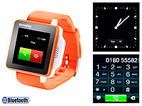 simvalley MOBILE Handy-<br />Uhr PW-315.touch Orange Handy...