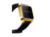 "simvalley MOBILE 1.5""-Smartwatch GW-420 Gold-Edition mit Echtgold-Auflage (refurbished) simvalley MOBILE Android-Smart-Watches"