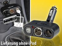 revolt Kfz-Verteiler<br />mit 2x 12V- und 2x 5V USB-Buchs...