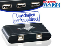 c-enter USB-Switch für 3 USB-Geräte an 2 PCs c-enter USB-Switches