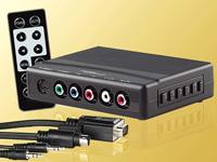 auvisio Multi-Anschluss-<br />Box mit Fernbedienung: Bring...