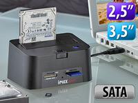 Xystec USB-HDD-Station<br />&quot;FD-400Twin&quot; 2,5&quot; &amp; 3,5&quot; SATA...