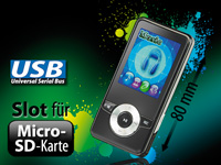 auvisio MP3- &amp; Video-<br />Player &quot;DMP-320.m&quot; mit UKW-Radi...