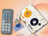 auvisio Kabelloser MP3-<br />Player f&uuml;r Kassettenautoradio...