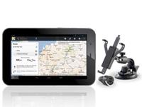 TOUCHLET SX7 mit KFZ-<br />Halterung und Deutschland Karte...