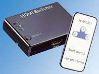 auvisio HDMI-Umschalter (Switch) 3-fach 1080p inklusive Fernbedienung,3D Ready auvisio HDMI-Switches