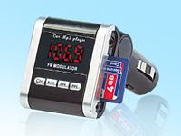 auvisio Stereo-FM-<br />Transmitter f&uuml;r MP3-Musik von USB-...