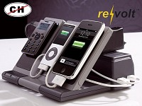 "revolt Multi-Ladestation ""Power-Source I"" für iPhone, Handy & Co. revolt Ladestationen Smartphones für Tablert PCs"