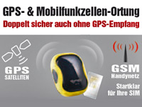 simvalley MOBILE GPS-GSM-Tracker GT-170 V.2 - SMS-Ortung & Geofencing simvalley MOBILE GSM-Tracker