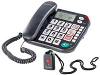 simvalley Notruf-<br />Senioren-Telefon XLF-80Plus mit Gar...