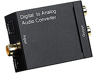 auvisio Audio-Konverter Digital (Toslink/Koaxial) zu Analog (Cinch) mit Kabel auvisio Digital / Analog Audio Konverter Toslink / Koaxial
