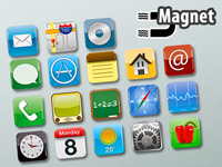 Your Design Originelle XL-Magnete im App-Design, 18 verschiedene Motive im Set Your Design Foto-Magnet-Pins