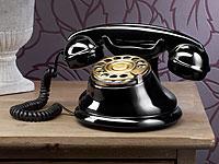 Telefon im Retro-Style<br />mit Metall-W&auml;hlscheibe und Re...