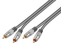 stereo kabel cinch premium cinch kabel stecker stecker. Black Bedroom Furniture Sets. Home Design Ideas