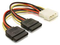 Strom-Adapterkabel f&uuml;r<br />SATA-Festplatten (Molex auf 2...