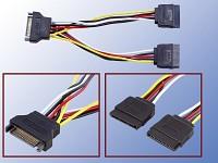 Y-Stromkabel f&uuml;r SATA-<br />HDD 20cm (2x Stecker / 1x Kupp...