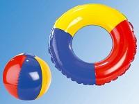 kinder schwimmset mit schwimmring kindermatratze und strandball. Black Bedroom Furniture Sets. Home Design Ideas