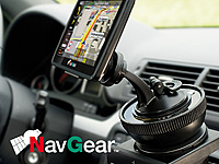 NavGear Universal-<br />Getr&auml;nkehalter-Adapter f&uuml;r Navi-Ha...