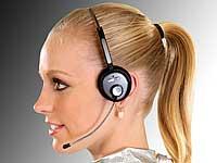 Callstel Bluetooth-<br />Headset mit Schwanenhals-Mikrofon