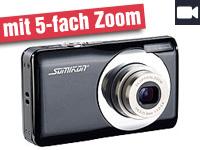 somikon digitalkamera dc 128 s mit 15 mp 5x opt zoom. Black Bedroom Furniture Sets. Home Design Ideas