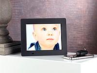 Somikon Digitaler<br />Bilderrahmen, 7&quot;/18,7 cm,  800 x 6...