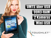 "TOUCHLET 9,7""-Tablet-PC X10.dual mit Doppelkern-CPU, Android 4.1, HDMI TOUCHLET Android-Tablet-PCs (ab 9,7"")"