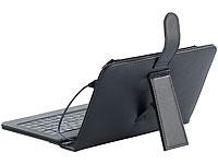 TOUCHLET 7&quot;-Tablet-<br />H&uuml;lle mit USB-Tastatur, Leder-Loo...
