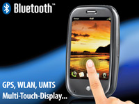Palm Pre Touchscreen-<br />Smartphone mit GPS, UMTS, WiFi,...