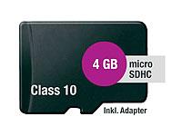 microSDHC-Speicherkarte<br />4 GB Class 10 inkl. SD-Adapt...