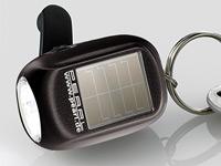 PEARL Mini-Solar-<br />Taschenlampe mit zus&auml;tzlichem Dynam...