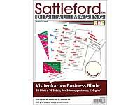 Sattleford Visitenkarten Beidseitig Bedruckbar 320 Visitenkarten Creme Strukturiert Inkjet Laser 230 G M