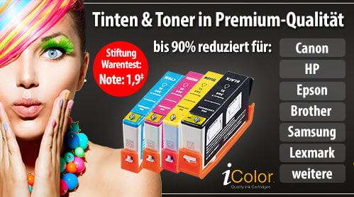 Tinten- und Toner-Bestseller bis 92% reduziert - Stiftungwarentest Note: 1,9*