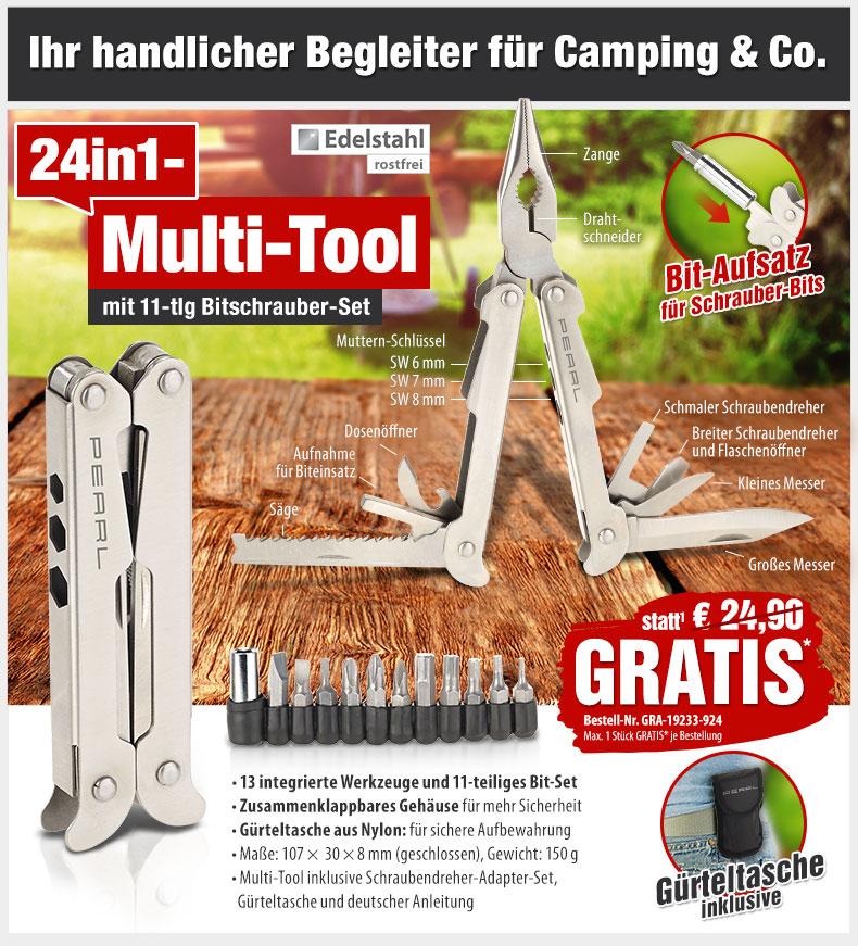 HotPriceMail - GRATIS statt 24,90 EUR: 24in1-Multi-Tool aus ...