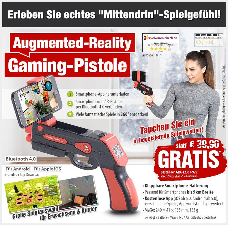 HotPriceMail - GRATIS statt 39,90 EUR: AR-Gaming-Pistole mit Bluetooth für Smartphone & iPhone - Weltneuheit