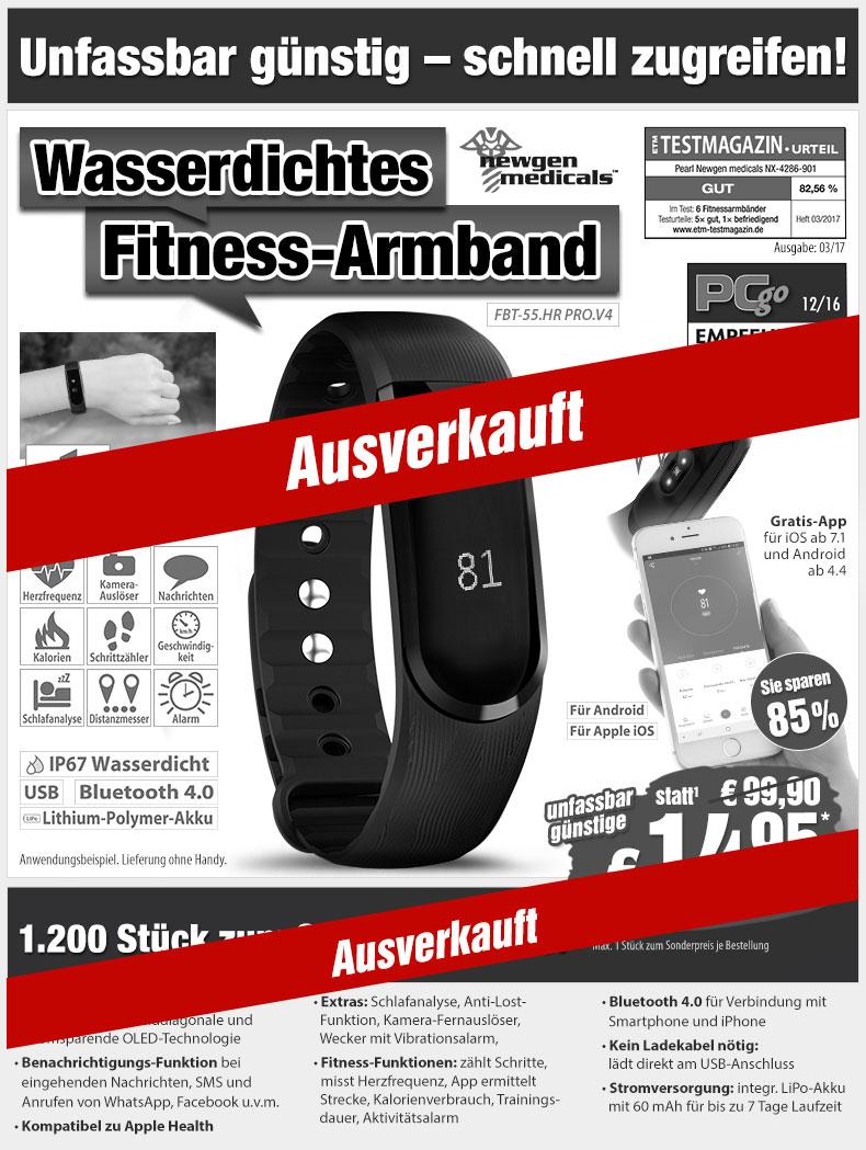 -85%! Fitness-Armband mit XL-Touch-Display, Herzfrequenz-Sensor, Schlafanalyse u.v.m. nur 14,95 statt 99,90 EUR