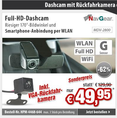 -68%! WiFi-Mini-Dashcam mit Full HD, G-Sensor, GPS, 155°-Weitwinkel und App nur 79,95 statt 249,90 EUR