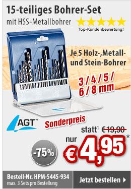 GRATIS statt 19,90 EUR: Schrauben-Ausdreher-Set 4-tlg. aus HSS-Stahl für beschädigte Schrauben