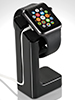 Callstel Eleganter 3in1-St�nder f�r Apple Watch, schwarz Callstel