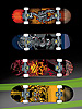 Playtastic Finger-Skateboards mit Griptape & austauschbaren Rollen, 4er-Set Playtastic
