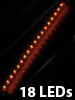 Lunartec Ultraflexible LED-Leiste mit 18 LEDs orange, 33 cm Lunartec
